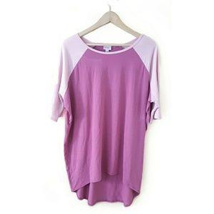 LuLaRoe // Pink Two-Tone Raglan Sleeve Tunic Dress